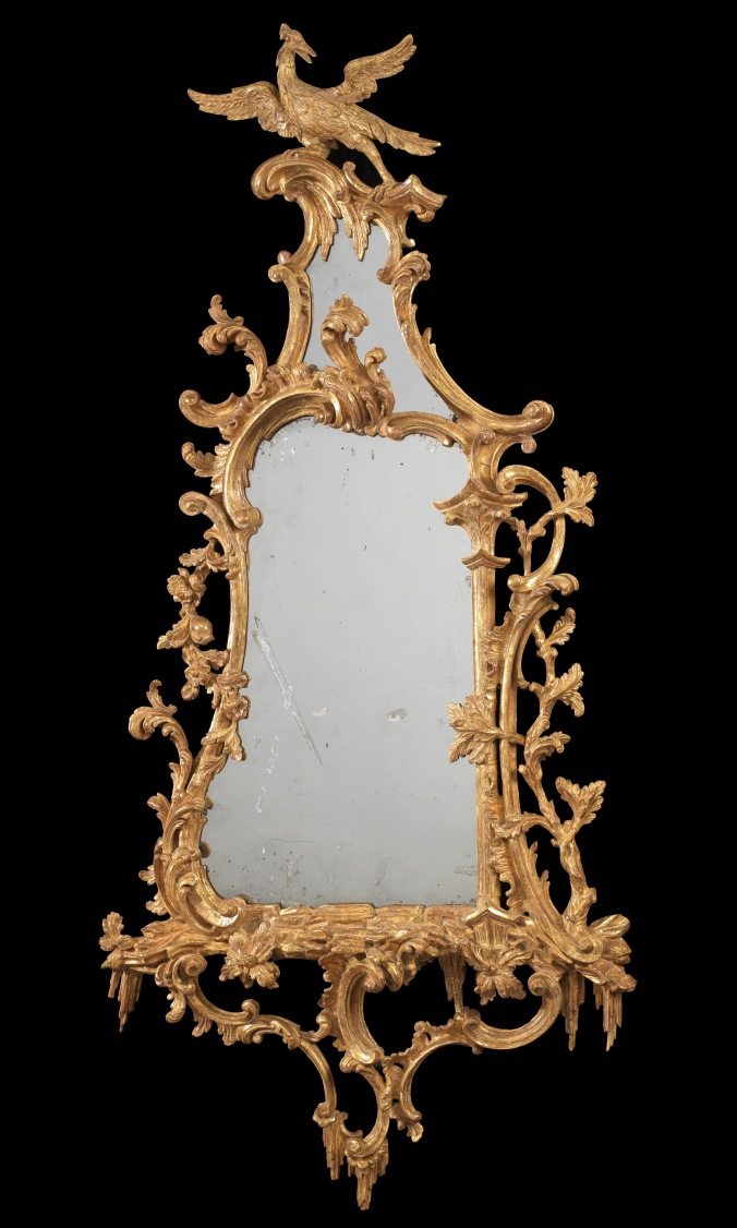 A George III Giltwood Mirror in the manner of Thomas Chippendale Mackinnon Fine Furniture Collection