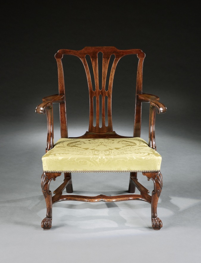 One of a pair of George III mahogany Irish armchairsMackinnon Fine Furniture Collection