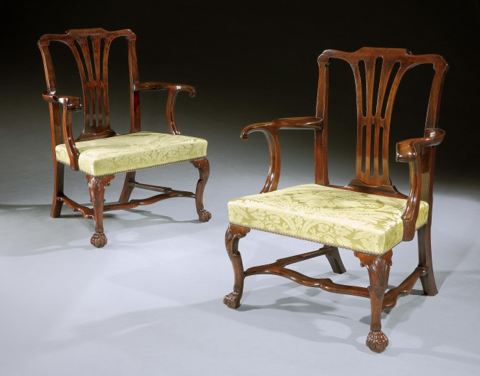 A Pair of Mahogany Irish Armchairs Mackinnon Fine Furniture Collection