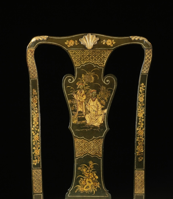 George II Japanned and Gilt Chair