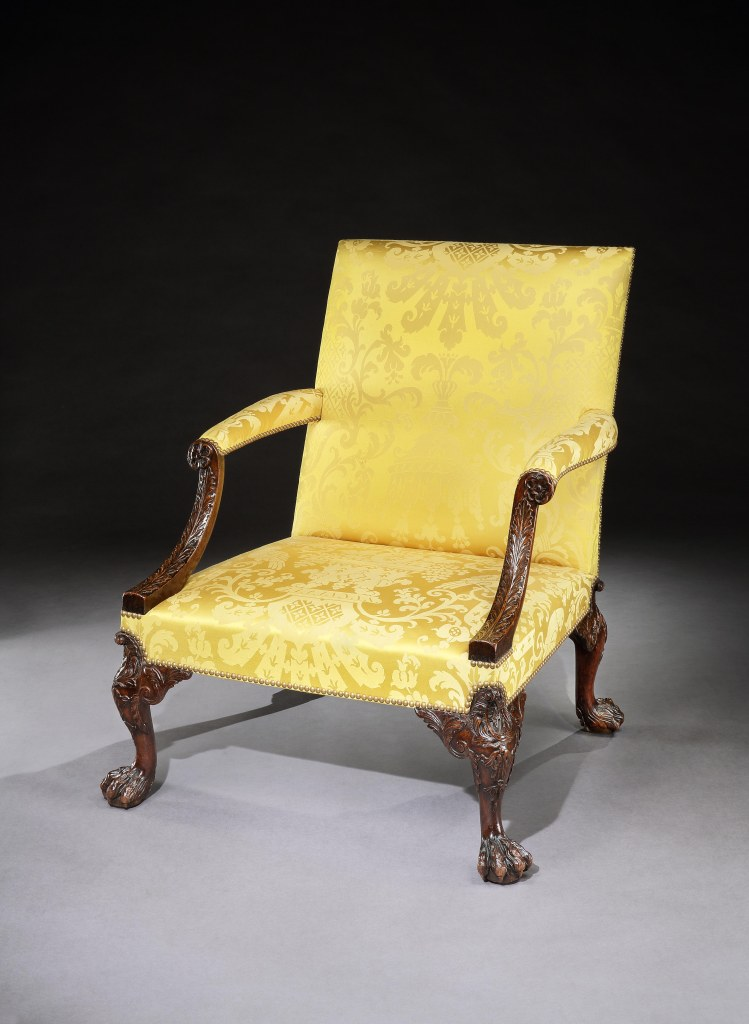 A George II walnut armchair attributed to Giles Grendey Mackinnon Fine Furniture Collection