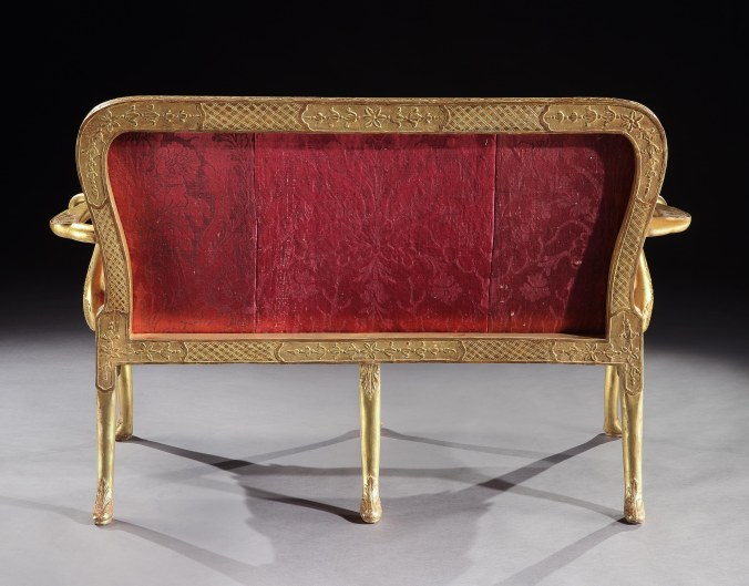 A George I Gilt Gesso Settee Mackinnon Fine Furniture Collection