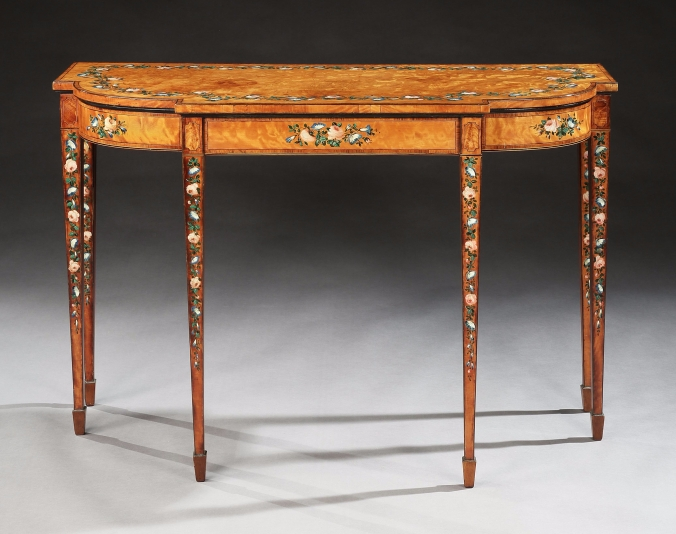 A George III Satinwood Console Table