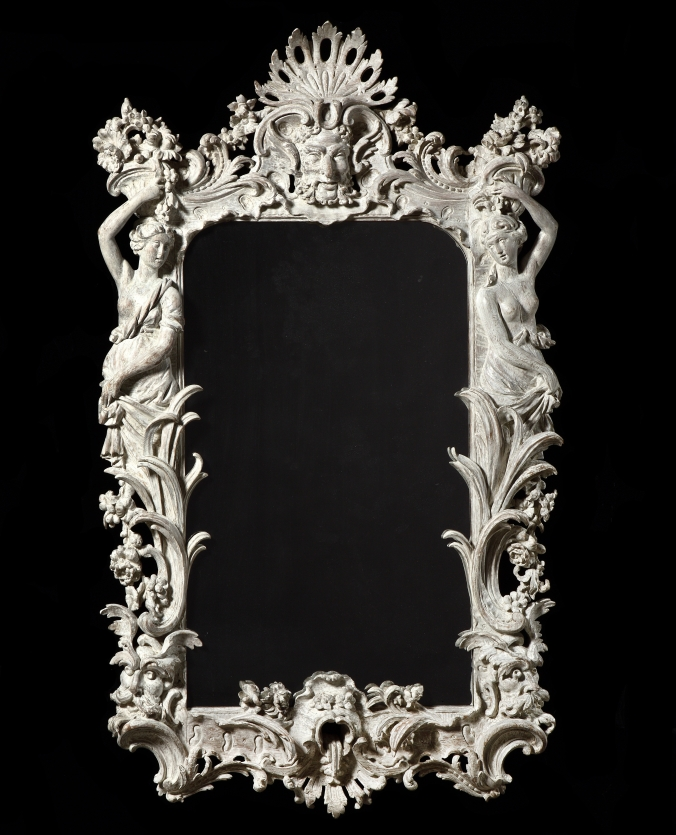 A George II Carved White Painted Mirror in the manner of John Vardy Mackinnon Fine Furniture Collection