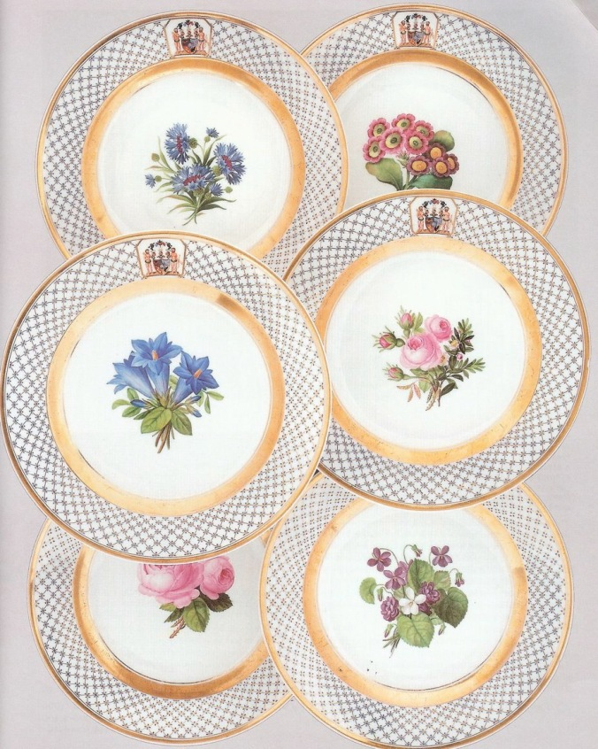 A set of six Berlin porcelain plates with arms of the Holstein-Gottorp family Mackinnon Fine Furniture Collection