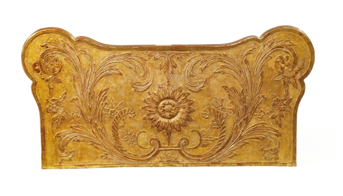 Top of a George I gilt gesso card table attributed to James Moore Mackinnon Fine Furniture Collection