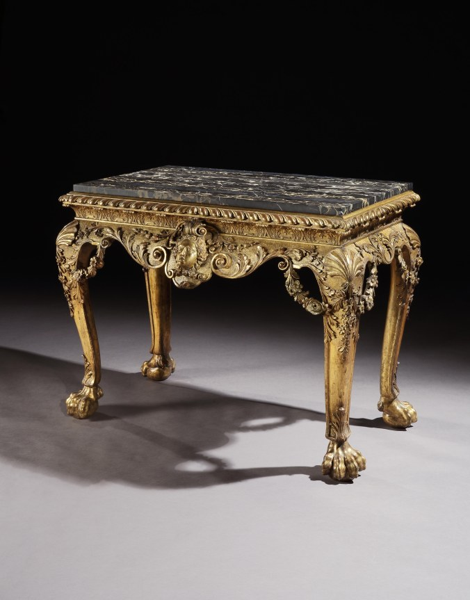 A George II Carved Giltwood Table in the manner of William Kent Mackinnon Fine Furniture Collection