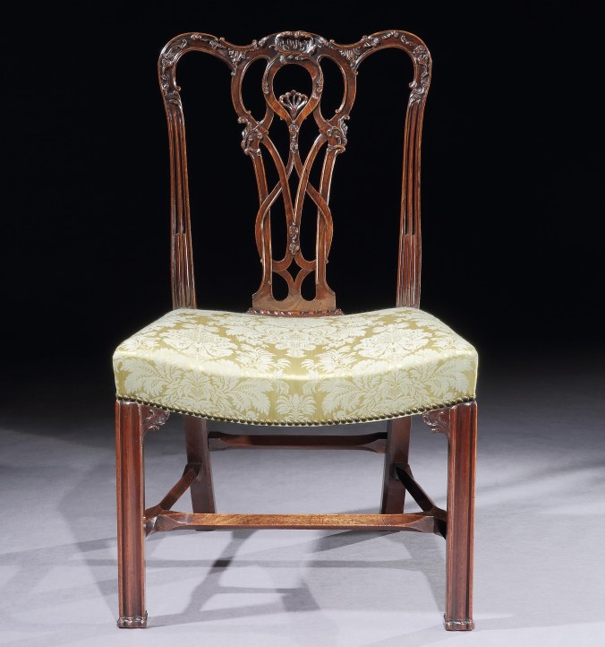 A George III Mahogany Chippendale Period Specimen Side Chair Mackinnon Fine Furniture Collection