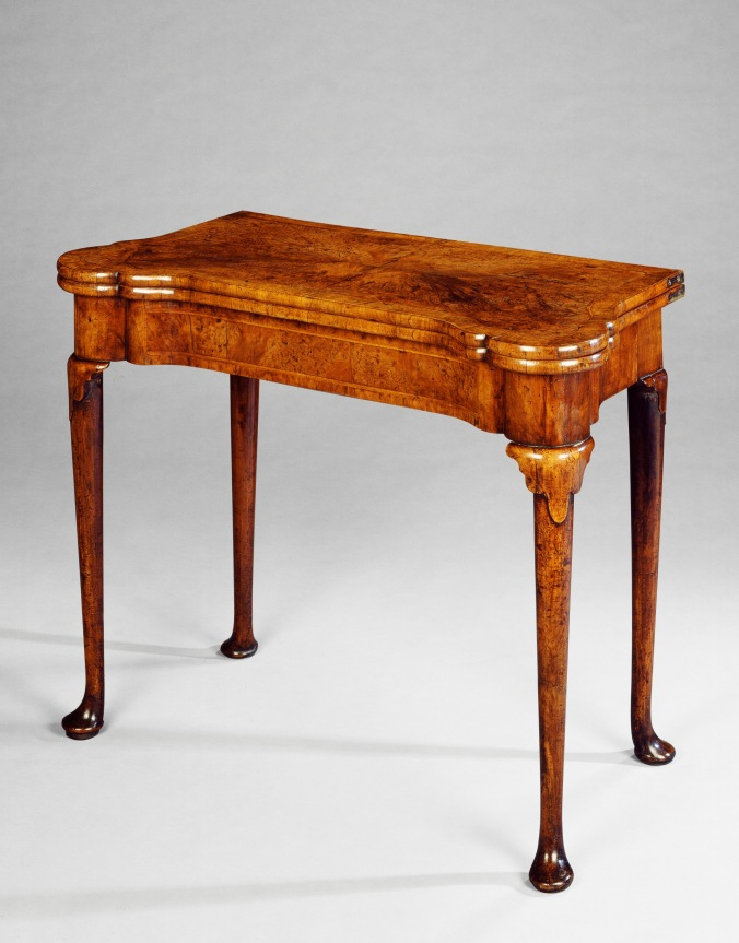 A Queen Anne Walnut Card Table Mackinnon Fine Furniture Collection
