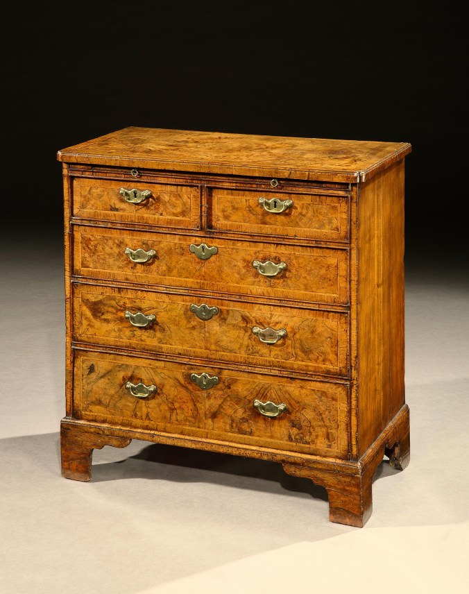 A George I Burr Walnut Chest of Drawers Mackinnon Fine Furniture Collection