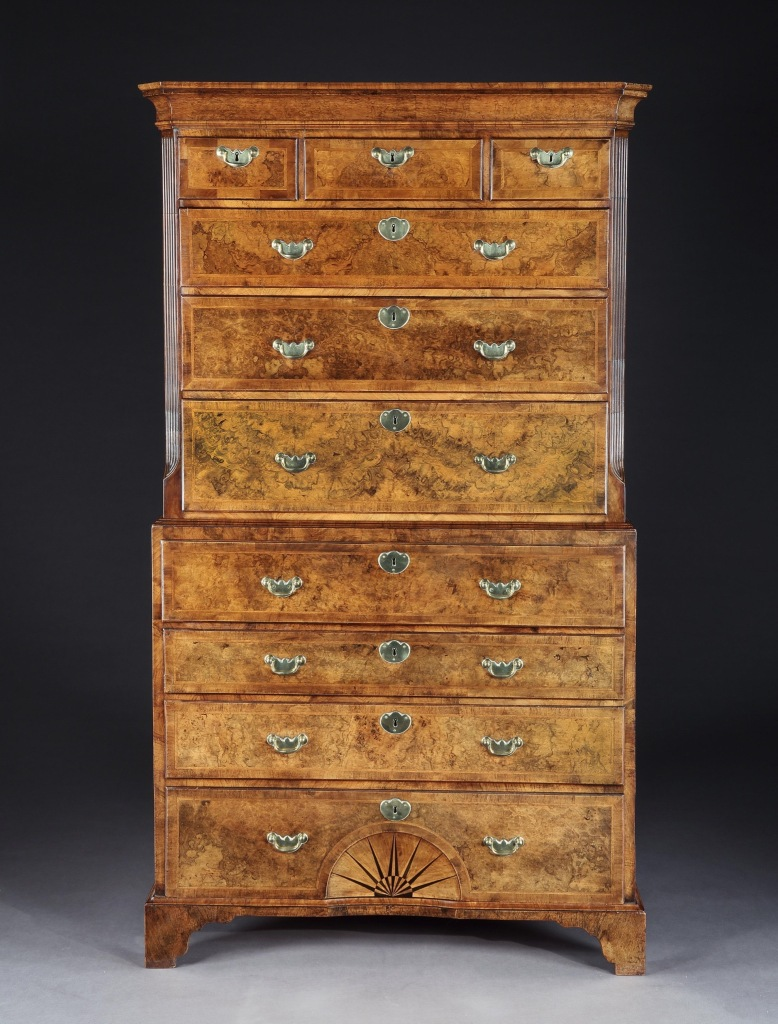 A George I Walnut Chest on Chest Mackinnon Fine Furniture Collection