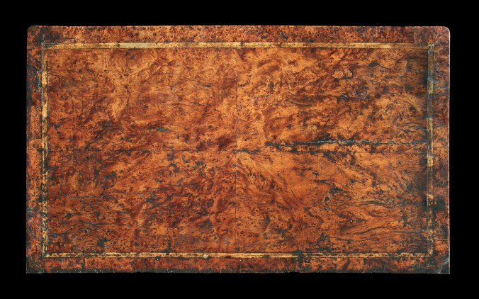 Top of a Queen Anne Burr Yew Chest of Drawers <br>Mackinnon Fine Furniture Collection