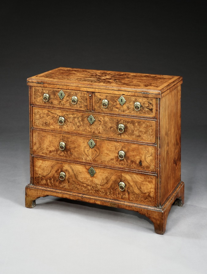 A George I Burr Walnut Bachelors Chest Mackinnon Fine Furniture Collection