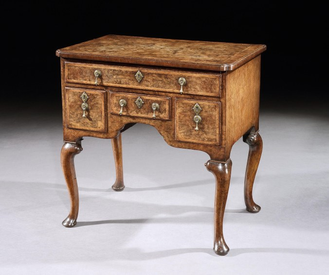 A George I Burr Walnut Lowboy Mackinnon Fine Furniture Collection
