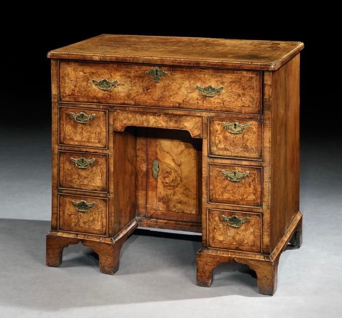 A George II Walnut Kneehole Desk Mackinnon Fine Furniture Collection