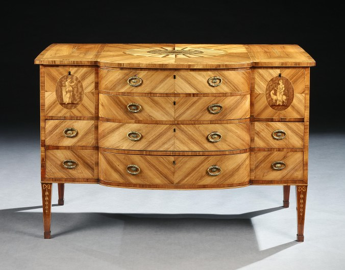 A George III Marquetry Commode attributed to Mayhew & Ince Mackinnon Fine Furniture Collection