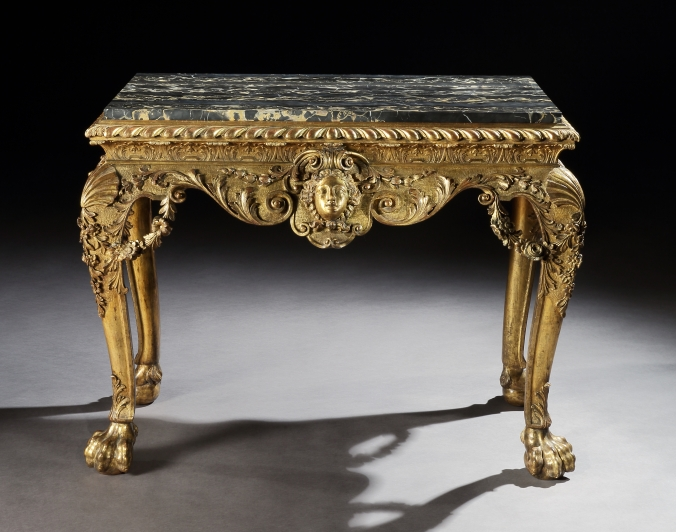 A George II Giltwood Table in the manner of William Kent from the Collections of the Earls of Lovelace Mackinnon Fine Furniture Collection
