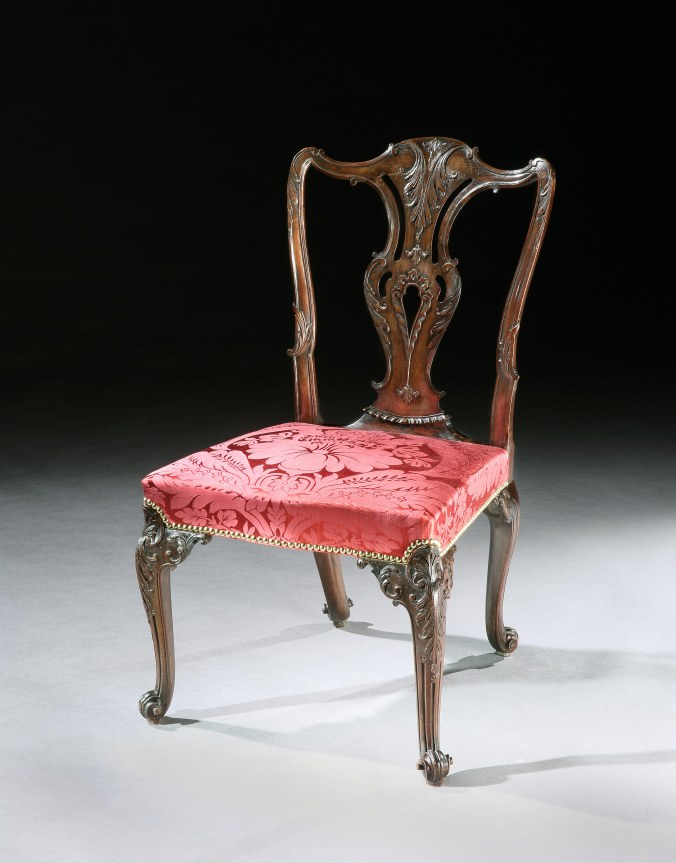 A George II Walnut Side Chair attributed to Paul Saunders from the collections of the Earls of Lonsdale Mackinnon Fine Furniture Collection