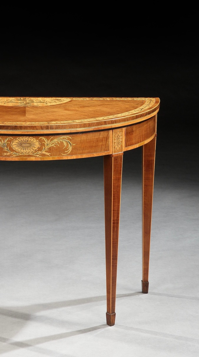 A George III Marquetry Harewood Card Table Mackinnon Fine Furniture Collection