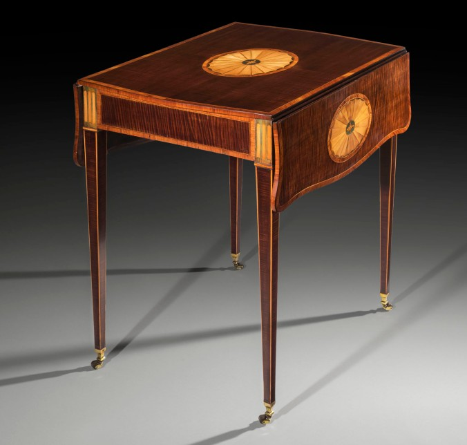 A George III Harewood Marquetry Pembroke Table  attributed to Mayhew & Ince Mackinnon Fine Furniture Collection