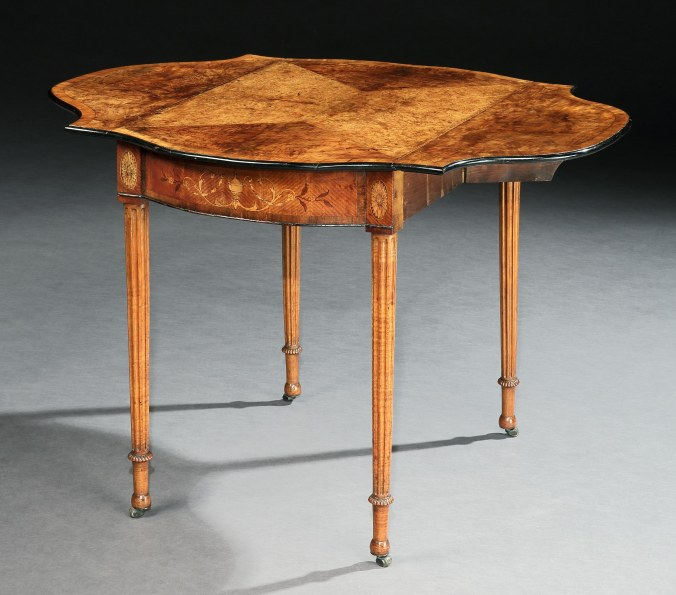 A George III Marquetry Pembroke Table Attributed to Henry Hill Mackinnon Fine Furniture Collection