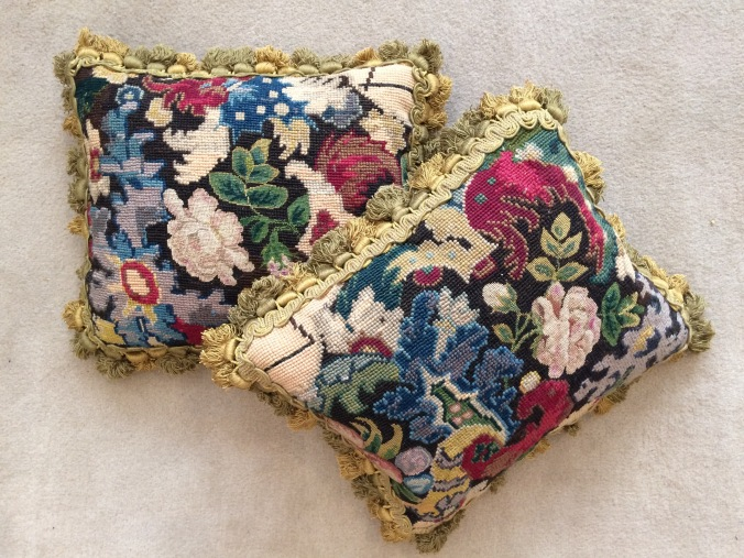 A Pair of Cushions of 18th Century French Needlework Mackinnon Fine Furniture Collection