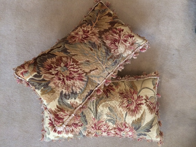 A Pair of Cushions of Late 19th Century Aubusson Tapestry Mackinnon Fine Furniture Collection