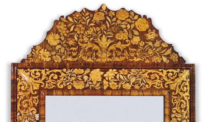 A William and Mary Marquetry Mirror Mackinnon Fine Furniture Collection