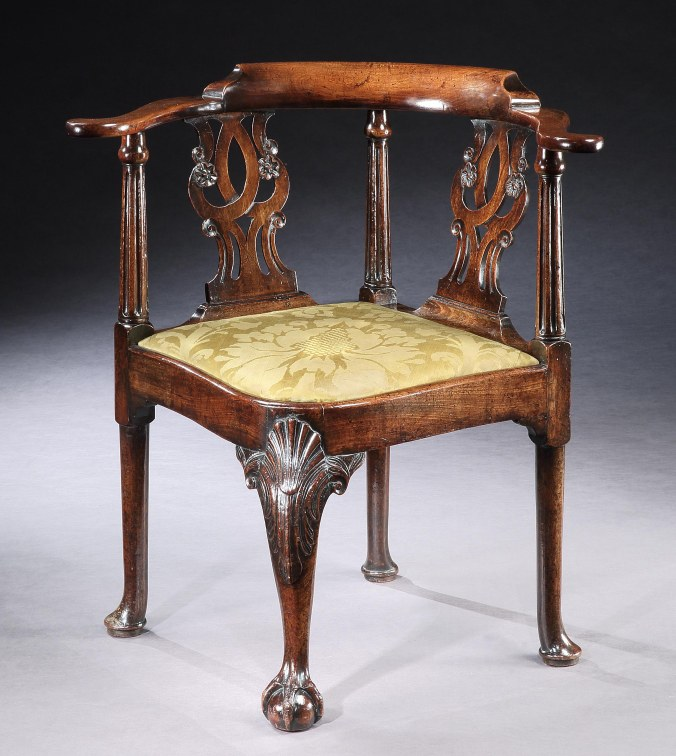 A George II Mahogany Corner Chair Mackinnon Fine Furniture Collection
