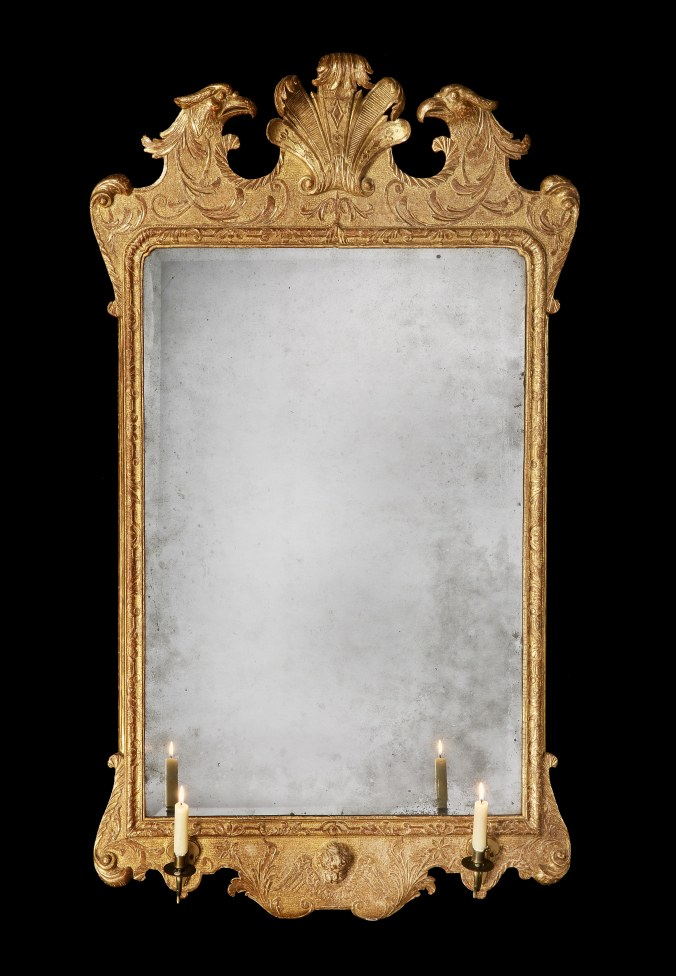 A George II Giltwood Mirror Attributed to John Belchier Mackinnon Fine Furniture Collection