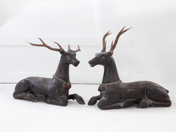 A Pair of 19th Century Deer with Antlers Mackinnon Fine Furniture Collection