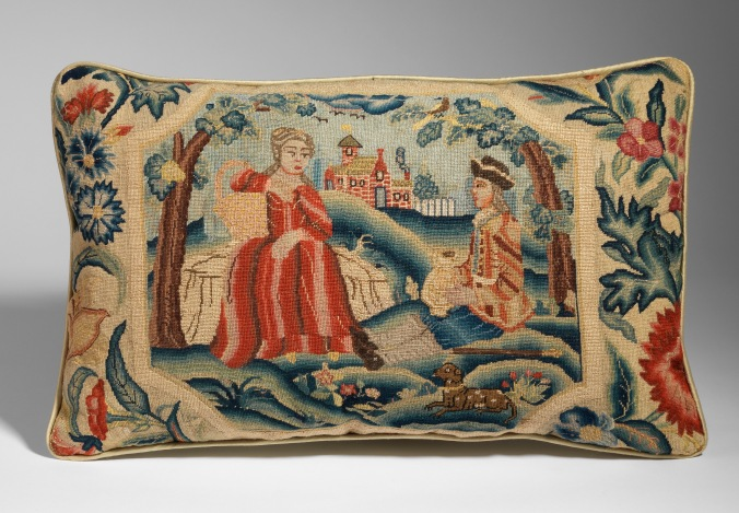 A George I Needlework Cushion Mackinnon Fine Furniture Collection