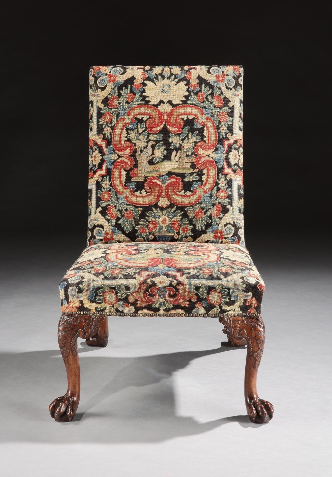 A George II Walnut Chair in the manner of Giles Grendey with Needlework Seat Mackinnon Fine Furniture Collection