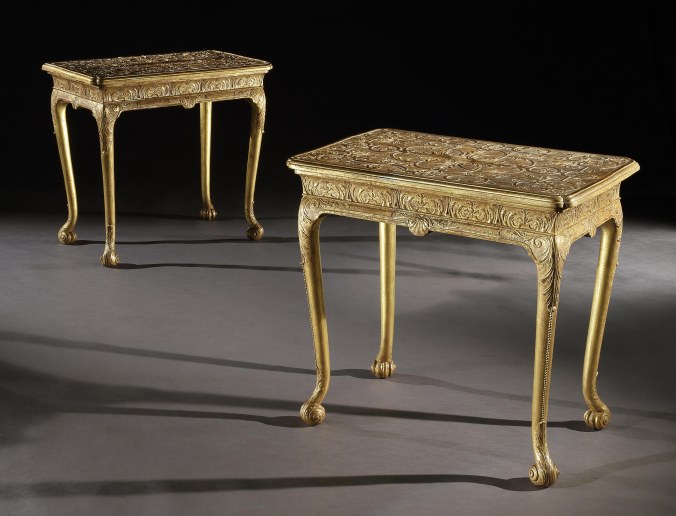 A Pair of George I Gilt Gesso Tables attributed to Elizabeth Gumley Mackinnon Fine Furniture Collection