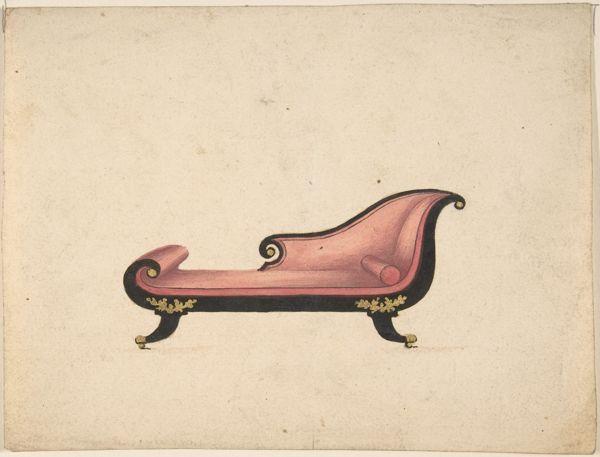 Design for a Sofa attributed to GillowsMetropolitan Museum of Art