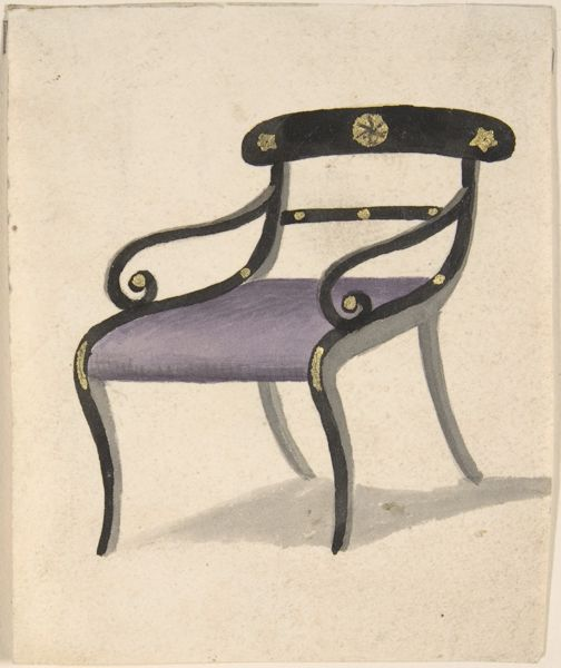 Design for a Chair attributed to GillowsMetropolitan Museum of Art