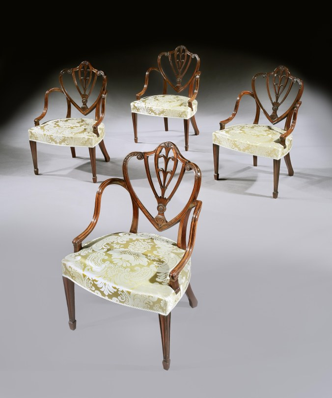A Set of Four George III Mahogany Armchairs attributed to Gillows of Lancaster and London