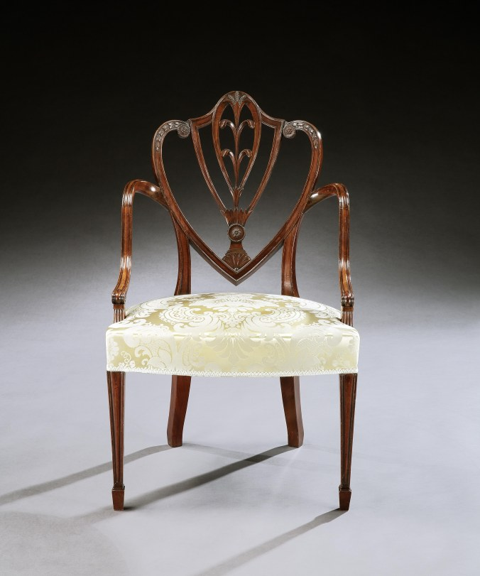 One of a Set of Four George III Mahogany Armchairs attributed to Gillows of Lancaster and London
