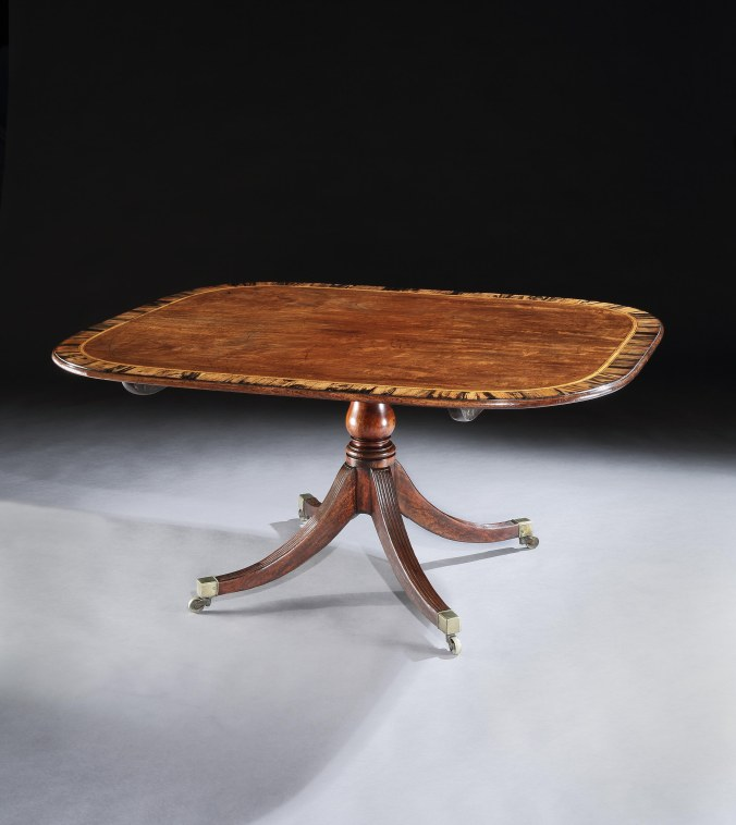 A George III Sheraton Period Mahogany Breakfast table stamped by Gillows of Lancaster Mackinnon Fine Furniture Collection