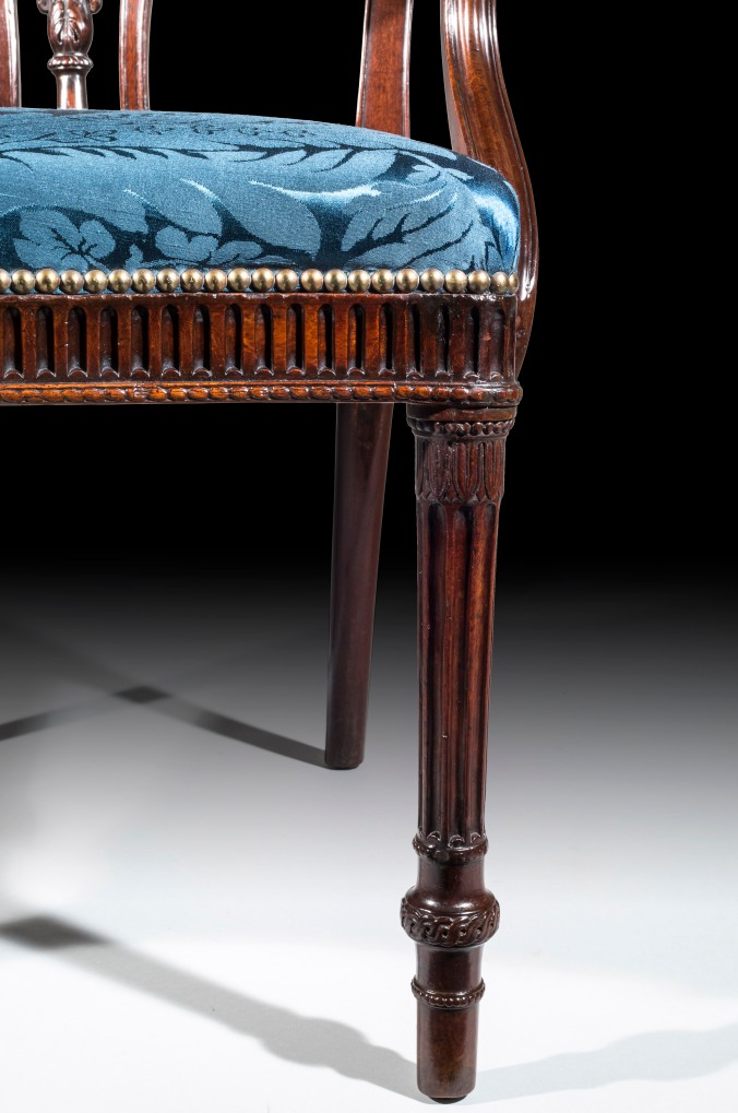 A George III Adam Period Mahogany Open Armchair Mackinnon Fine Furniture Collection
