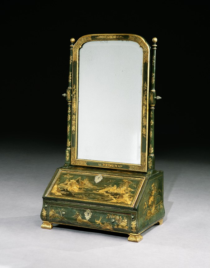 A George I Japanned Dressing Mirror Mackinnon Fine Furniture Collection