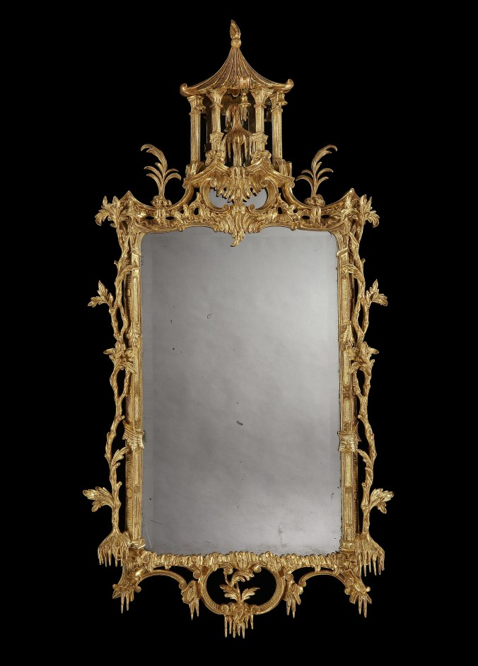 A George III Giltwood Mirror in the Manner of Thomas Johnson Mackinnon Fine Furniture Collection