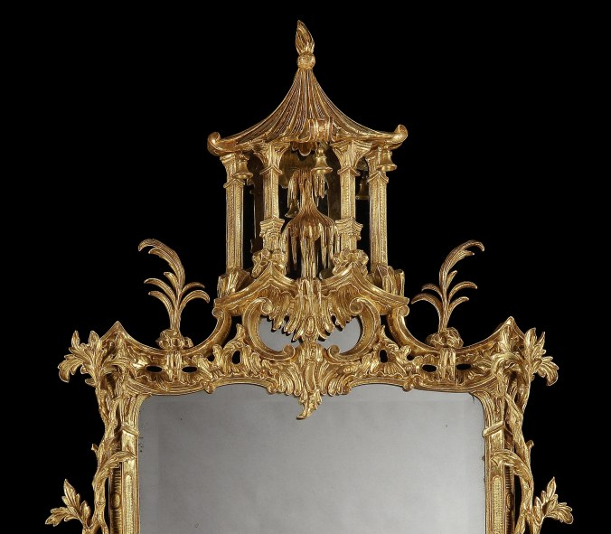 A George III Chinosierie Giltwood Mirror in the manner of Thomas Johnson Mackinnon Fine Furniture Collection
