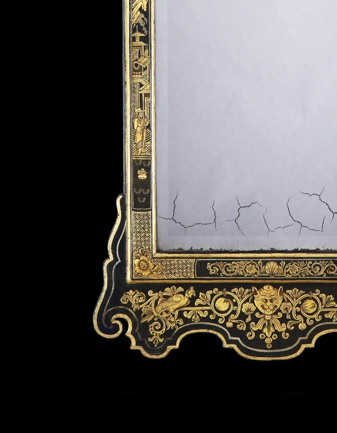 A George II Japanned Pier Mirror Attributed to Giles Grendey Mackinnon Fine Furniture
