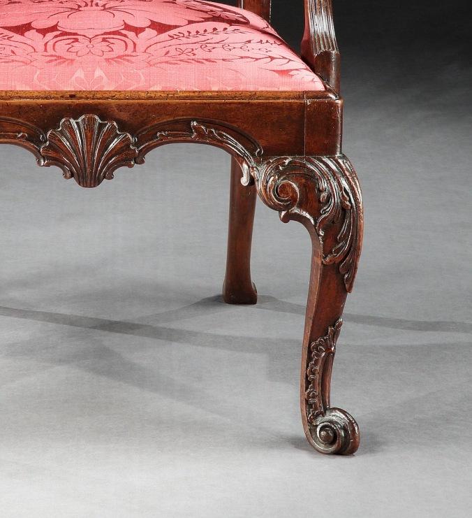 A George II Irish Mahogany Armchair Mackinnon Fine Furniture