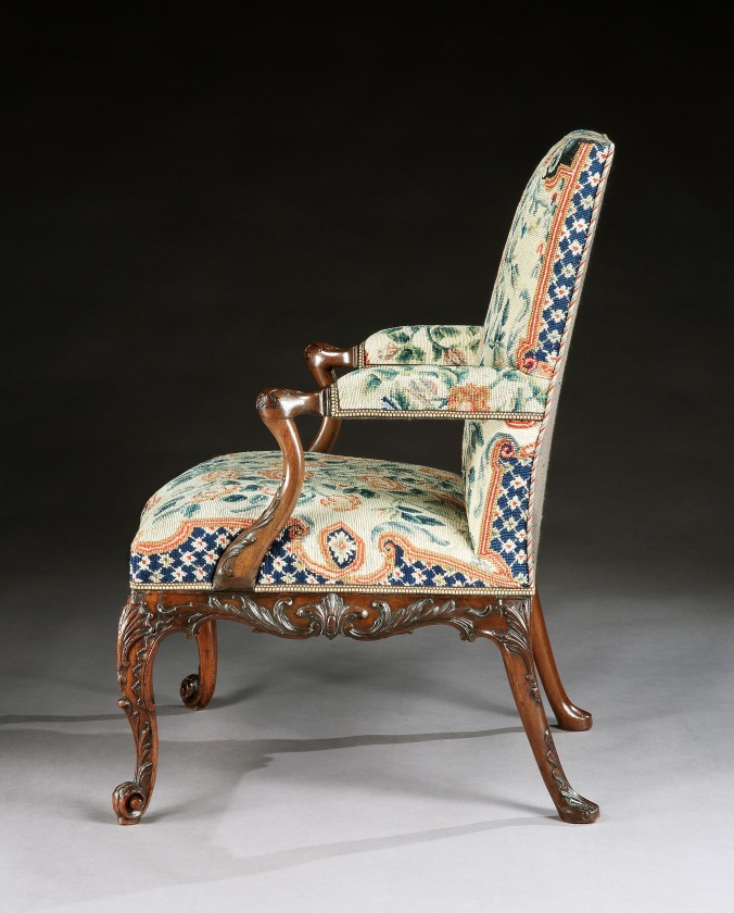 A George III Mahogany Chippendale Period Carved Armchair Mackinnon Fine Furniture Collection