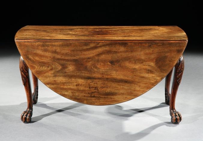 A George II Irish Mahogany Drop Leaf Table Mackinnon Fine Furniture Collection