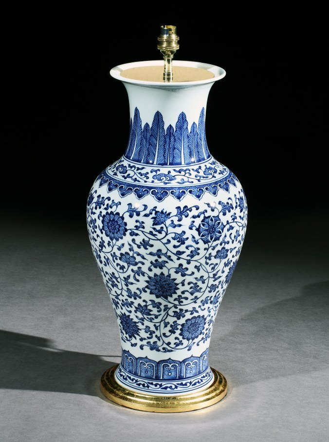 A Chinese Blue and White Vase Mackinnon Fine Furniture Collection