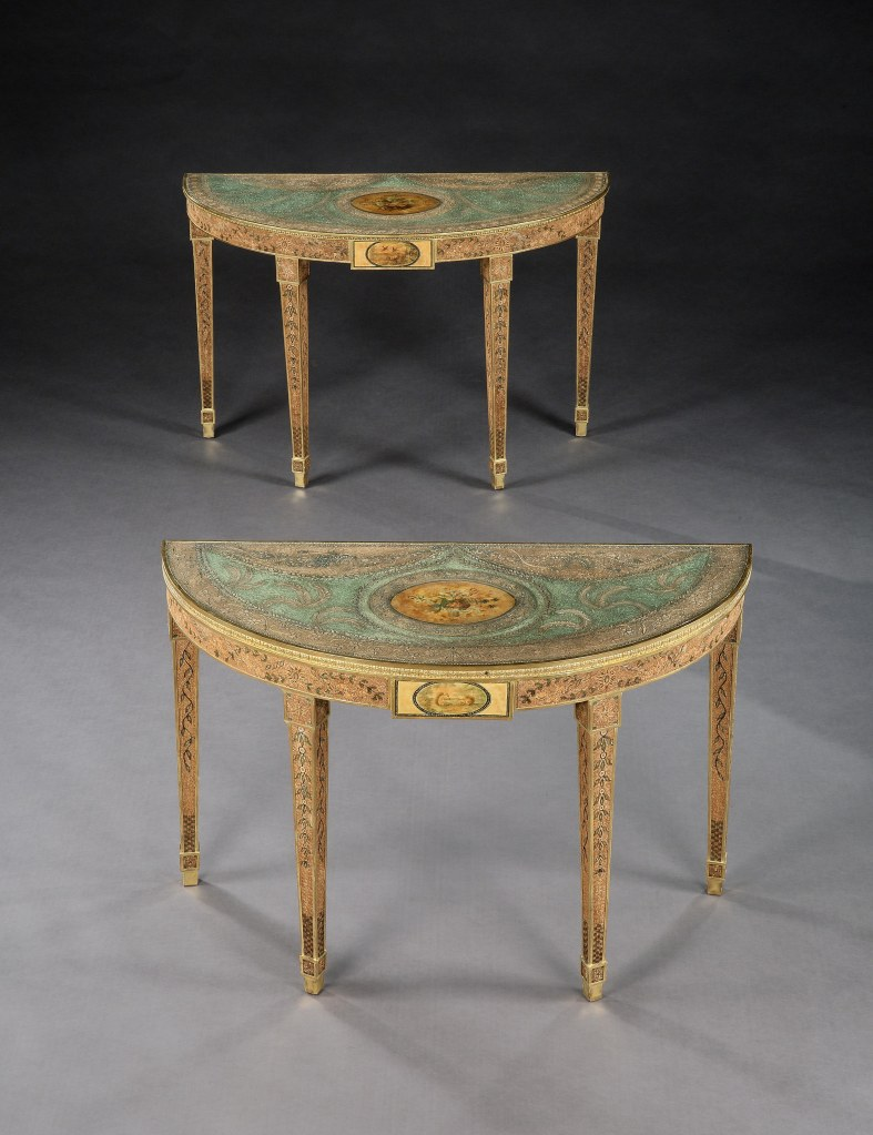 A Pair of George III Scroll Paper Tables Mackinnon Fine Furniture Collection