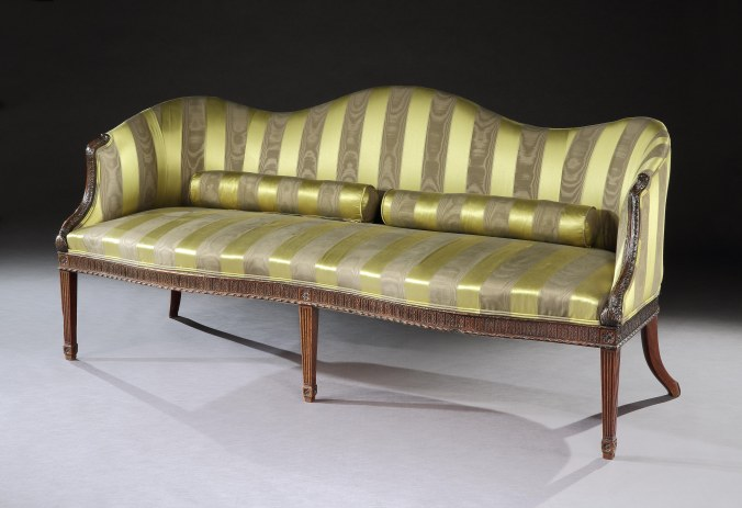 A Mahogany Serpentine Sofa Designed in the Manner of Thomas Chippendale Mackinnon Fine Furniture Collection